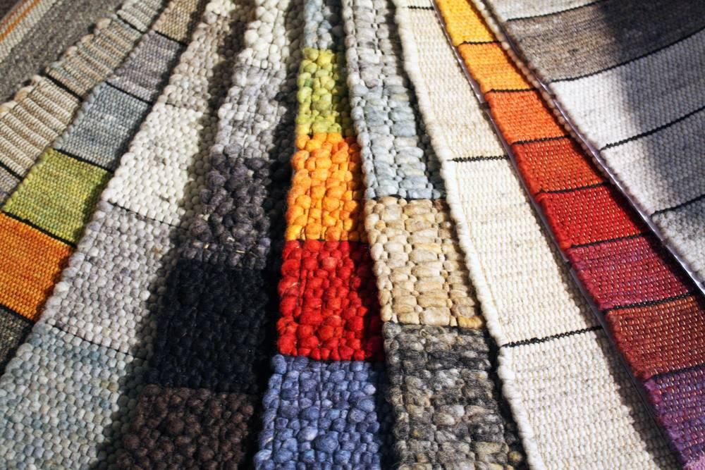 muster verschiedener handweb teppiche bei teppich schmidtke in oldenburg